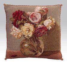 Ehrman Designer Kaffe Fassett Tapestry Chart FANTIN LATOUR ROSES vintage flowers