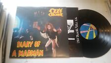 OZZY OZBOURNE DIARY OF A MADMAN LP ORIG 1981 JET w/lyric black sabbath fz37492!