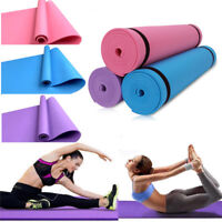 173*60cm Yoga Mat 4mm Thick Gym Exercise Fitness Pilates Workout Mat Non Slip