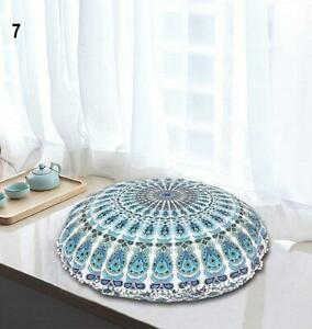 """Beautiful Multi Color Mandala Tapestry Round Pouf Floor Pillow Ottomans 32""""Inch."""
