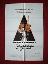 A CLOCKWORK ORANGE * 1971 ORIGINAL MOVIE POSTER STANLEY KUBRICK BEETHOVEN NM-M