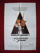 A CLOCKWORK ORANGE * 1971 ORIGINAL MOVIE POSTER STANLEY KUBRICK BEETHOVEN NM-M