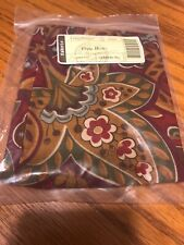 Longaberger Crimson Hill Fabric Liner for Lg Oval Bowl Basket 24204