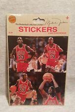 MICHAEL JORDAN #23 CHICAGO BULLS VINTAGE NBA BASKETBALL STICKERS SHEET - NEW!