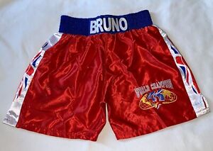 Frank Bruno Hand Signed Boxing Shorts Bidding From £49.99