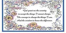 SERENITY PRAYER CHECKBOOK COVER with FLOWERS