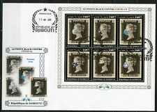 DJIBOUTI 2020 MASKED PENNY BLACK  SHEET FIRST DAY COVER