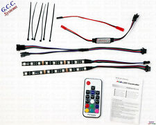 2x 150mm Waterproof MultiColour RF Remote RGB RC Car Rear LED Under Lighting KIT