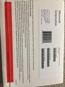 Genuine Microsoft Windows 10 Pro Professional 64bit DVD with Product license Key