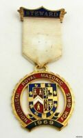 Royal Masonic Institution for Girls - Vintage Steward Medal 1969 Crest Jewel