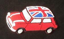 MINI COOPER UNION JACK FLAG BRITISH MOTOR SPORTS CAR BADGE IRON SEW ON PATCH