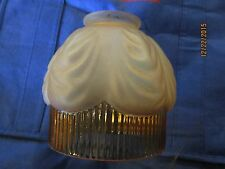 glass lamp shade Victorian  amber colored crystal lamp shade