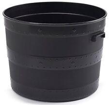 Large Massive Tub Barrel Planter Black Plastic Flower Plant Pot 80 Litre Strong