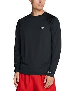 NewSpeedo Men's Long Sleeve Swim T-Shirt XL Black S0411