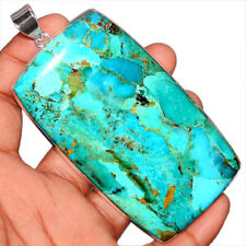 62g Blue Mohave Turquoise 925 Sterling Silver Pendant Jewelry BMTP1701