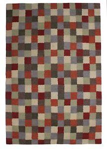 Hand Tufted Area Rug Multi Wool Carpet Modern Rugs 5x8 Handmade Bedroom Carpets