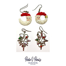 Xmas Earrings - Santa Claus Earrings - 2 Pack - Free Shipping
