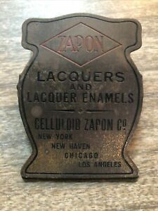 Antique ADVERTISING Paper Letter Clip Zapon Laquers Celluloid New York
