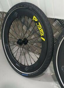 "16"" V3LOX P38 2 SPEED Carbon Wheels for Brompton fold bike. Jtek/Brompton Hub"