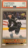 2013 14 UPPER DECK Tanner Pearson YOUNG GUNS EXCLUSIVES RC ROOKIE PSA 9 #/100
