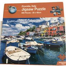500 Piece Jigsaw Puzzle. Procida, Italy. Italian Harbour. Sea. Town. Colourful