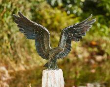 Bronzefigur Seeadler 55x80cm Rottenecker Bronze Adler Falke Vogel Dekoration