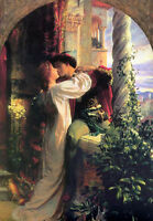 Dream-art Oil painting Frank Dicksee - romeo and juliet romantic lovers canvas