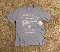 Margaritaville x Tasso Elba Mens T-Shirt XXL Blue Locals Only Spell Out NWT