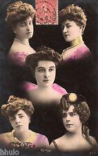 BE722 Carte Photo vintage card RPPC Femme woman Montage multi visage Reutlinger