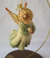 M I Hummel Goebel Porcelain PEACE ON EARTH ANGEL with stand Germany 1990