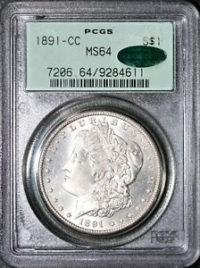 1891-CC Morgan Silver Dollar PCGS MS64 CAC OGH Vam-2 Sold For $1800 On Heritage