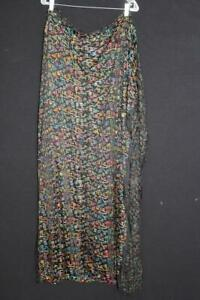 """VINTAGE FRENCH 1930'S COLORFUL EMBROIDERED SILK FABRIC 46"""" W  X  3 YD LENGTH"""