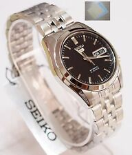 Gift + Original SEIKO 5 SNK361K1 Stainless Steel Band Automatic Men Black Watch