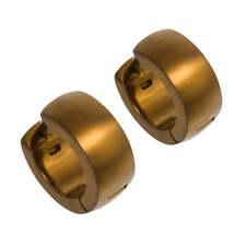 D-shape Hoop Cuff Titanium Imperial Tan Beige Earrings