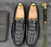 Mens Real Leather Alligator Pattern Loafers Moccasin Gommino Driving Shoes New