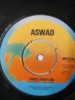 "Aswad - Three Babylon 7"" Vinyl Single 1976 UK Copy"