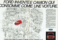 Publicité Advertising 089  1984  fourgon Ford  utilitaire Transit 2.5D ( 2 pages
