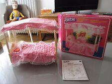 vintage barbie lit a baldaquin 1982 boite notice set 5641 mattel