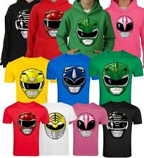 GO GO POWER RANGERS FANCY DRESS KIDS AND ADULTS PICK YOUR RANGER T SHIRT