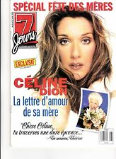 Celine Dion Rare 7 Jours Magazine Volume 10 May 15Th 1999 + Tele Jan 2000 Free