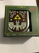 The Legend of Zelda Wind Waker Hero's Shield Mug Cup 16 oz. 473ml  NEW RARE
