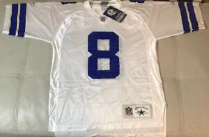 NWT Reebok Troy Aikman Dallas Cowboys Authentic Vintage Jersey Size Men's Medium