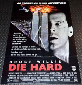 SUPER RARE! DIE HARD 1989 ORIGINAL 25x38 VIDEO STORE MOVIE POSTER! BRUCE WILLIS!