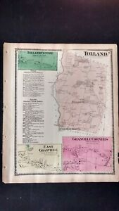 1870 Beers Atlas Map,Tolland MA  #10