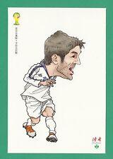 FOOTBALL - DUHZE POSTCARD OF CHINA - FOOTBALL WORLD CUP 2014  -  G. KARAGOUNIS