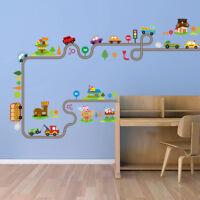 Highway Cars Wall Stickers for Kids Baby Nursery Bedroom Waterproof Sticker Hot