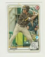 2020 Bowman Draft 1st Edition #BD-189 CJ ABRAMS RC Rookie San Diego Padres