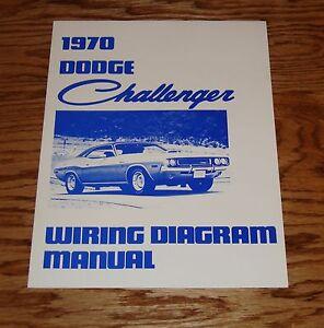 1970 Dodge Challenger Wiring Diagram Manual 70
