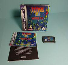 Nintendo GAME BOY ADVANCE ~ Tetris Worlds (2002) con OVP & Istruzioni
