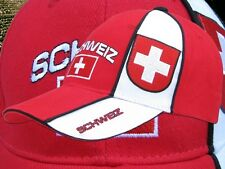 "Schweiz Kappe ""SCHWEIZ""  +neu+ Fan WM 2018 Cap Suisse Schwiiz 100 % Baumwolle"